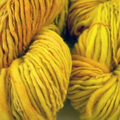 Mustard & yellow yarn