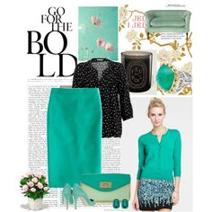 bold teal, created by krisabelle2 on Polyvore