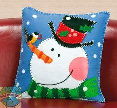 christmas felt pillow patterns | Dimensions - Snowman Pillow - Cross Stitch World