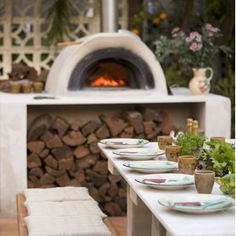 Great outdoor pizza oven ... garden design by Jamie Durie