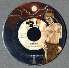 Jacques Puiseux - Jimi Hendrix Experience - Gypsy Eyes Vinyl Art sur boîte de…