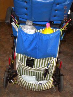 Wheelchair caddy to hold essentials