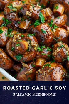 ROASTED GARLIC SOY BALSAMIC MUSHROOMS, SIMPLY DELICIOUS! | #recipes Berita Masak