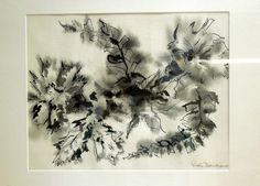 FLOWERS by Ruth Dumprow, Pen and Ink  http://conta.cc/1bXaCZb