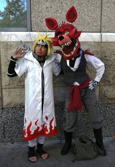 Naruto (—ナルト—), from his manga, and Foxy, from the video game Five Nights at Freddy's