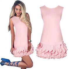 Zobacz trapezową sukienkę z ozdobną falbanką, za jedyne 69,99 w sklepie internetowym Magmac.pl