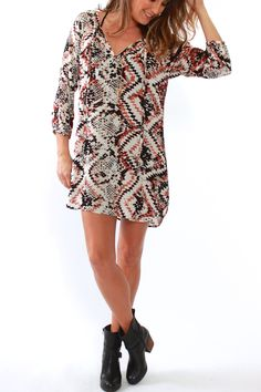 Glam,  Printed Shift Dress from Viva Diva Boutique