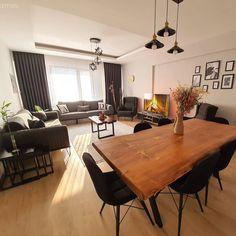 Bu Evde Modern Stil Natürel Detaylarla Sıcaklık Kazanm - Home decor interests Design Bleu, Home Accessories, Sweet Home, Dining Table, Room Decor, House Design, Living Room, Interior Design, House Styles