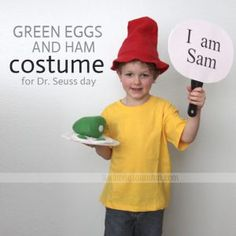 Dr. Seuss Costume Ideas for Kids - Green Eggs And Ham  sc 1 st  Pinterest & One Fish Two Fish Costume DIY Dr Seuss Costume | Halloween ...