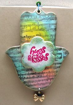 Housewares and decor Hugs and kisses music  Hamsa by artefyk, $35.00