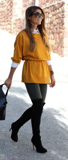 #winter #fashion / mustard knit
