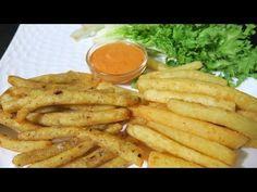 रेस्टोरेंट से बढ़िया पोटेटो फिंगर चिप्स क्रिस्पी व टेस्टी बनाये आसानी से   French fries - YouTube Suji Recipe, Tasty Snacks, Meat, Chicken, Youtube, Recipes, Food, Essen, Eten
