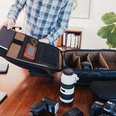 Perfect Pack!! Pack your clothes on one side and your camera gear on the other!