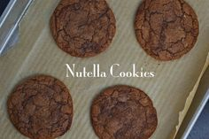 Thin & Chewy Gluten-free Nutella Cookies