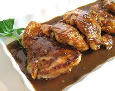 For the Love of Cooking » Chicken Thighs with a Balsamic and Garlic Sauce