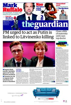 """""""GUARDIAN: PM urged to act as Putin is linked to Litvinenko killing January 2016, Bbc, Acting, Friday, Twitter, Movie Posters, Film Poster, Billboard, Film Posters"""