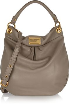 Marc by Marc Jacobs- The Classic Q Hiller Hobo textured-leather shoulder bag