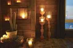 hyttestue4 - livingdelux  www.livingdelux.com Candle Sconces, Wall Lights, Cottage, Cabin, Candles, Lighting, Blog, Inspiration, Home Decor