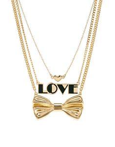 Imagen 1 de Pack de collares con Love y lazo de ASOS