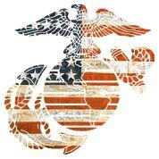 USMC EGA US Flag T-Shirt