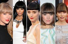 Blunt bangs were big in 2012