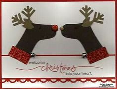 Kissing deer card
