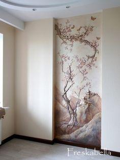 Elegant Interior Designs ∘・゚ Plaster Art, Plaster Walls, Mural Art, Wall Murals, Wall Art, Diy Home Decor, Room Decor, Beautiful Wall, Wall Sculptures