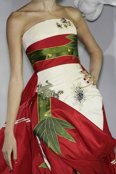 Christian Dior... Christmas.... pretty...and yet, when would anyone REAL ever have an opportunity to wear something like this?