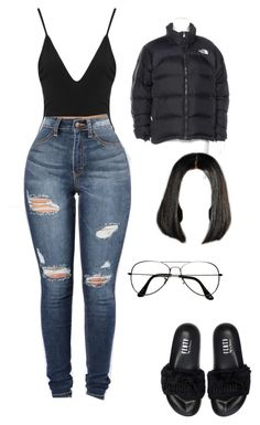 """Untitled #45"" by rxshida on Polyvore featuring ZeroUV, The North Face and Puma"