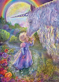"""Unicorn Kiss 1"" par Josephine Wall"