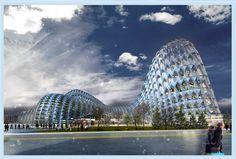 Astana, new capital of Kazakhstan railway station   - Brutalisme Style architecture