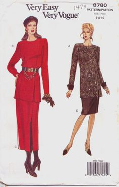 1990s Very Easy Very Vogue Pattern 8780 Womens by CloesCloset, $8.00