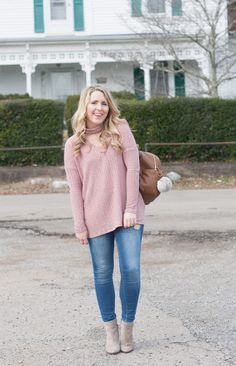 Blush Pink Sweater for Spring