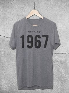 Vintage 1967 T-Shirt | 50th Birthday Gift Ideas – Hello Floyd