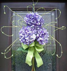 Spring Wreaths Hydrangea Wreath Hydrangea Bouquet by LuxeWreaths