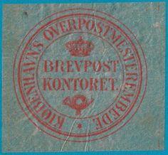 + Early Era Denmark Danish Copenhagen Overpostmesterbede Label Seal Translucent