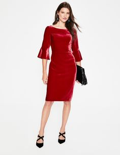 Find and compare Boden Aubrey Flounce Sleeve Velvet Dress across the world's largest fashion stores! Boden Clothing, Black Velvet Dress, Gray Dress, Dress Red, Nordstrom Dresses, Party Fashion, Girls, Cold Shoulder Dress, Dresses For Work