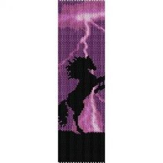 PURPLE THUNDER HORSE - beading cuff bracelet pattern for peyote (buy any 2 patterns - get 3rd FREE)