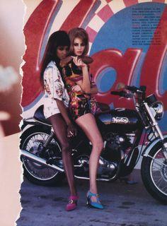 80s-90s-christy-turlington: Hot Pants - Vogue Italia...