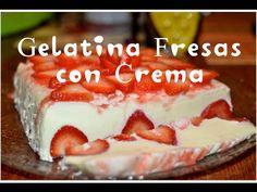 Gelatina de Fresas con Crema - YouTube