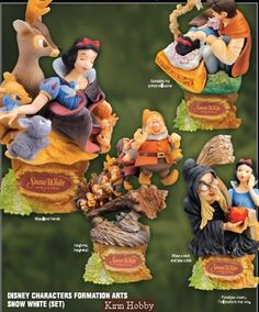 Kirin Hobby : Disney Formation Arts Snow White ~ Set of 4 Figure by Square Enix 662248808536