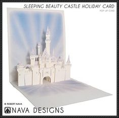 Sleeping Beauty Castle Pop-Up Card Free Paper Craft Download