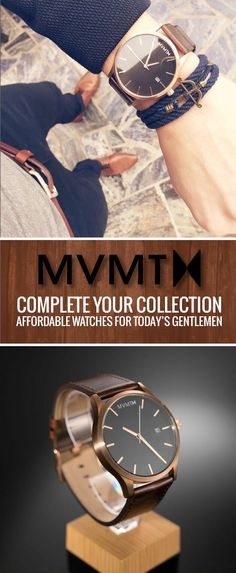 Our classic, yet modern minimalist watches are the perfect gift to let someone k. - Men's style, accessories, mens fashion trends 2020 Mvmt Watches, Watches For Men, Wrist Watches, Pocket Watches, Casual Watches, Looks Style, Looks Cool, Foto Picture, Affordable Watches