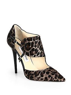 "Jimmy Choo Houry Haircalf Strapps Point Toe Pumps  ""See you when I see you"""