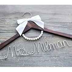 WEDDING Hanger, Personalized Bride Hanger, Wedding Dress Hanger ...