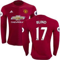 Manchester United 16-17 Daley Blind 17 Hjemmebanetrøje Langærmet.  http://www.fodboldsports.com/manchester-united-16-17-daley-blind-17-hjemmebanetroje-langermet.  #fodboldtrøjer