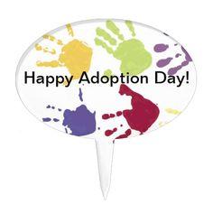 Shop Kids Hands Happy Adoption Day Cake Topper created by pbkooistra. Adoption Day, Cake Picks, Kids Hands, Baby Shower Cakes, Amazing Cakes, Cake Toppers, Kids Shop, Words, Color Blue