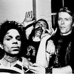 Bowie and Prince - is it Lemmy in the background?