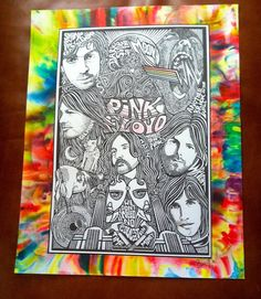 Pink Floyd Watercolor Art Print by Posterography by Posterography