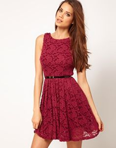 burgendy lace dress. Perfect for a night out! Or to brunch. Ya know...
